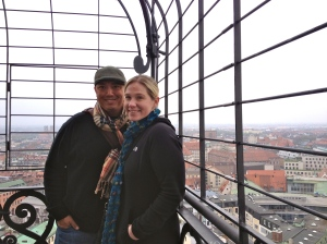At the top of St. Peter's, an awesome view of Munich - one of our favorite places in Germany!