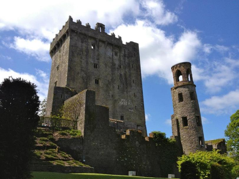 The Blarney Castle! At the top, around the ledge, is where the Blarney Stone is found.