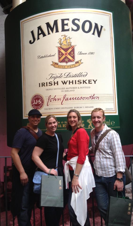 The four of us following the Jameson tour!