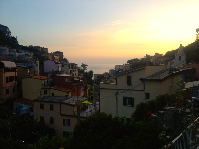 Cinque Terre at sunset!