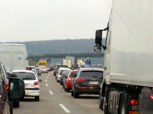The Autobahn is great until you get caught in the nightmare that is a German traffic jam.