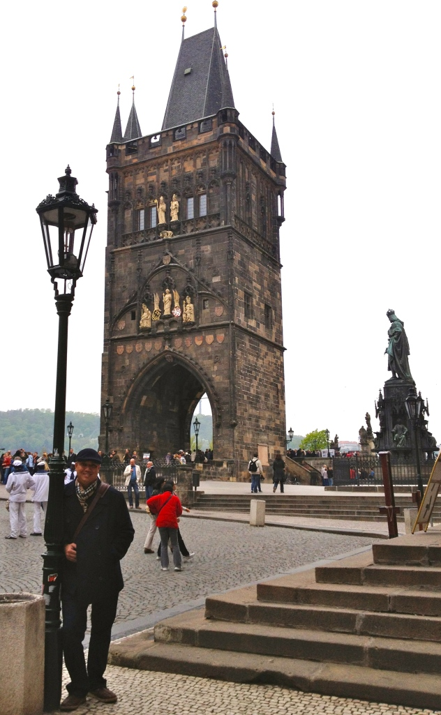 The entrance to the Charles Bridge.