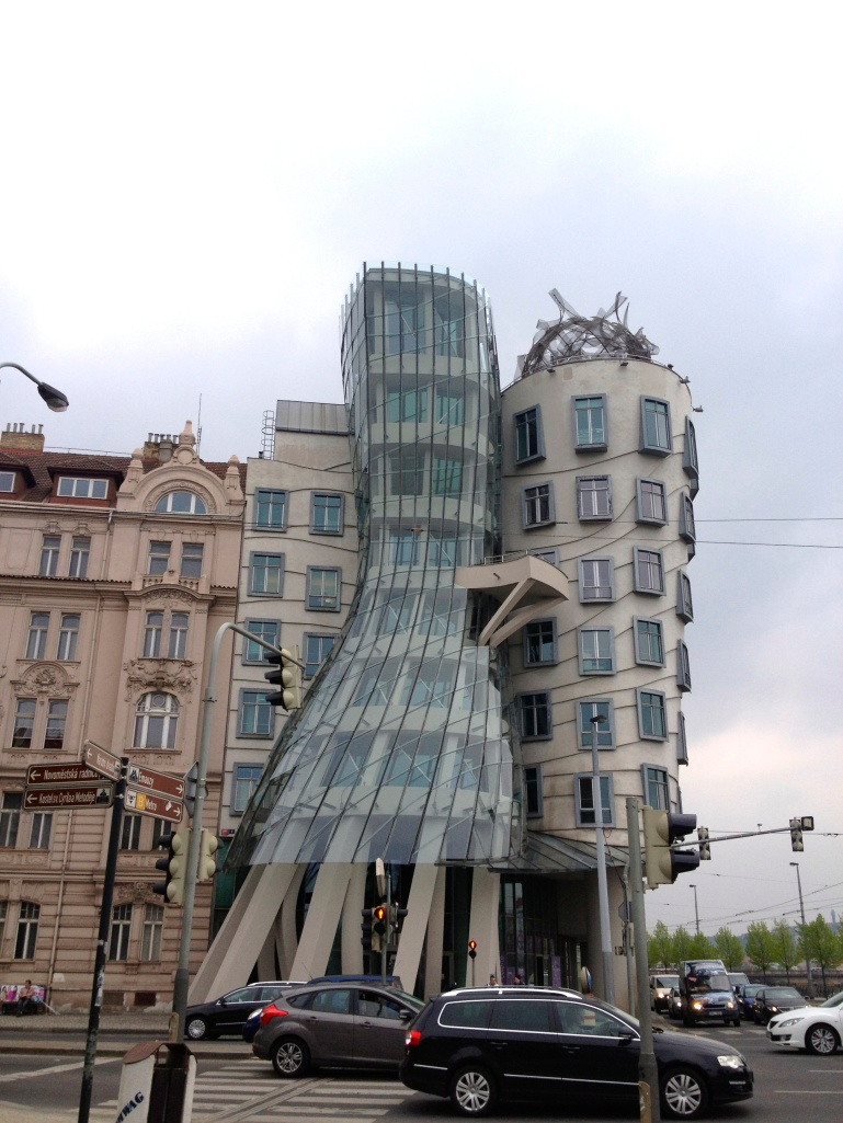 "The ""Dancing Building"" cool - but didn't quite in to the Prague architecture!"