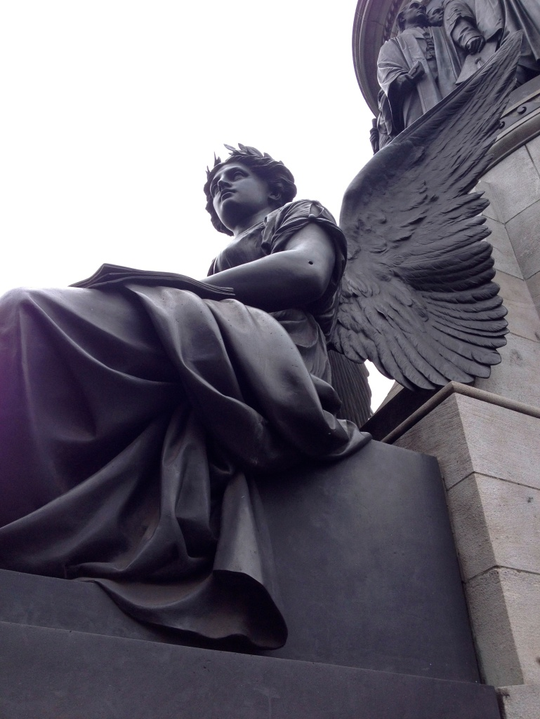 You can see the bullet hole in the arm of the statue that is on one of Dublin's main roads.