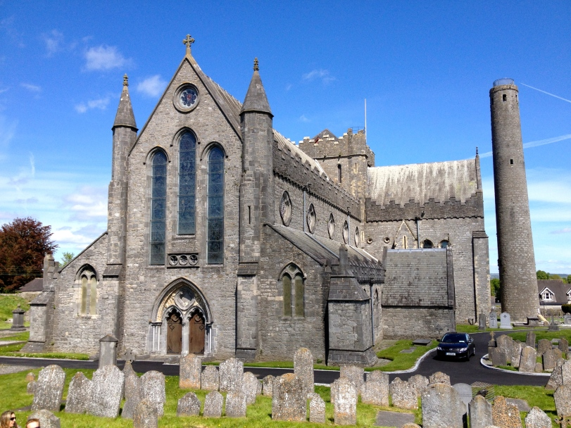 The St. Canice Cathedral - very beautiful, but no one was interested in climbing the tower.