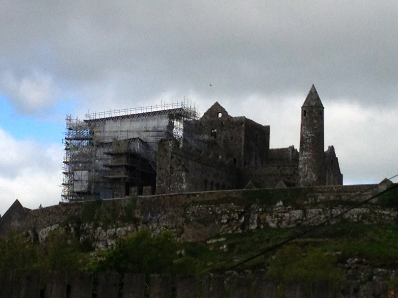 Darn scaffolding!! Still an impressive site even with ongoing reconstruction.