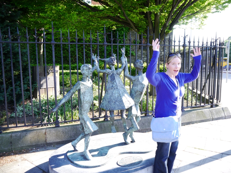 See a statue - do the pose! Dublin, and Ireland, provided wonderful opportunities for us to do just that!