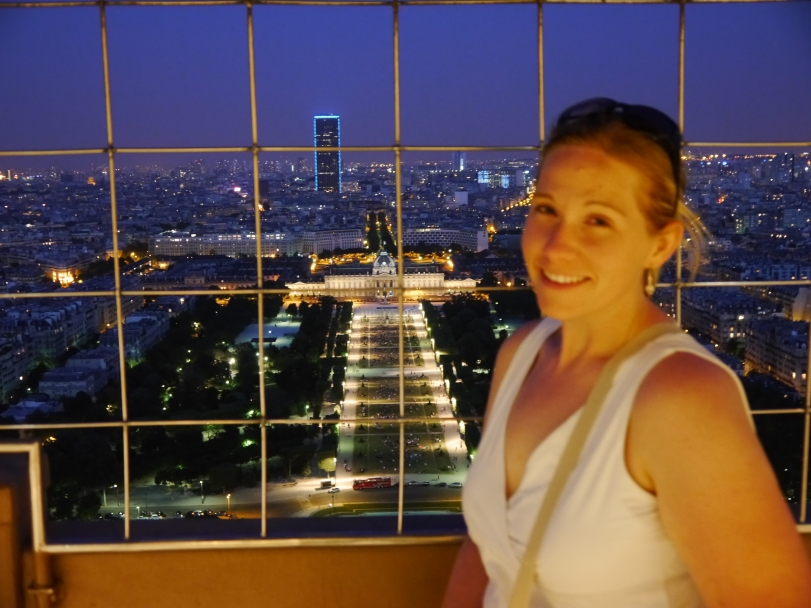 On the second level of the Eiffel Tower - equally as pretty of a view as the very top!