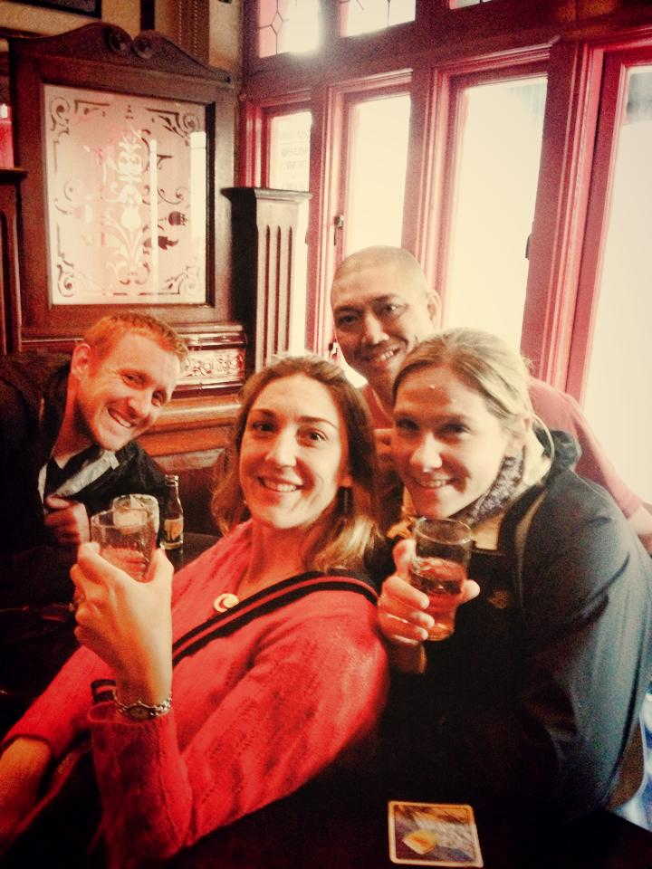 The four of us on our pub crawl!
