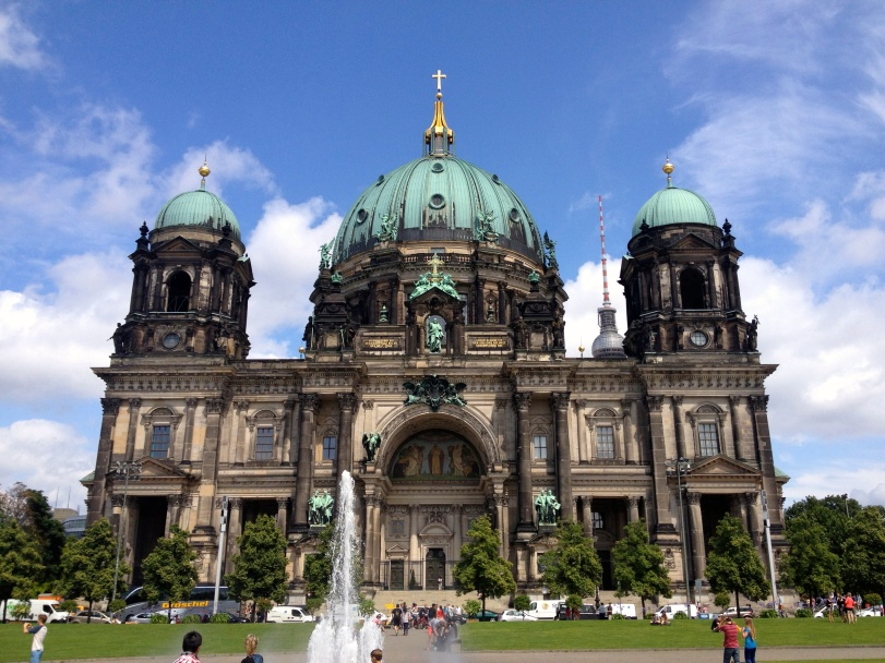 This is the Berlin Dom, and while not entirely a museum, it is on the island with the five different museums that were built to mirror the art it houses.