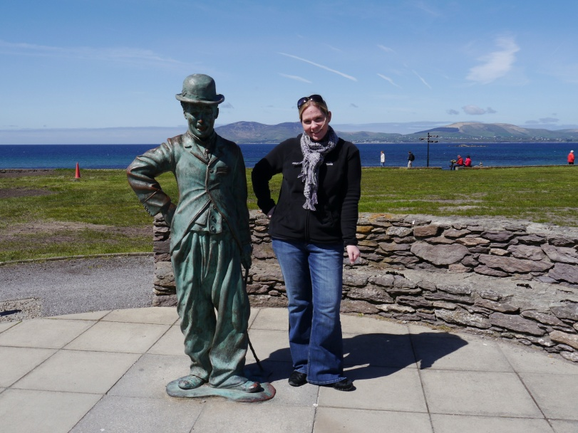The Charlie Chaplin statue in Waterville.