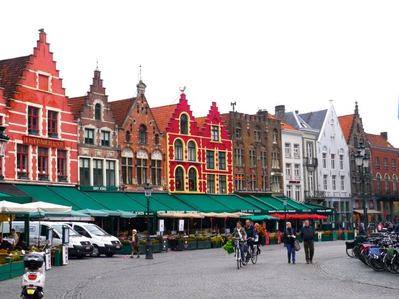 Main square in Bruges