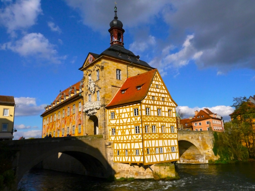 Bamberg escaped being damaged during WWII - thankfully! There's no telling if this awesome City Hall would have made it. And it is one of the coolest sites to see!