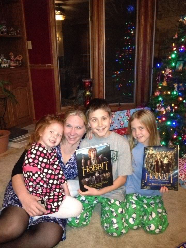 Drew, Kate and Jane last Christmas - can't wait to take another picture with them in front of the Christmas tree this year!