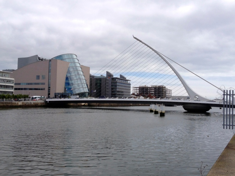 The Dublin riverfront - a mixture of old vs new