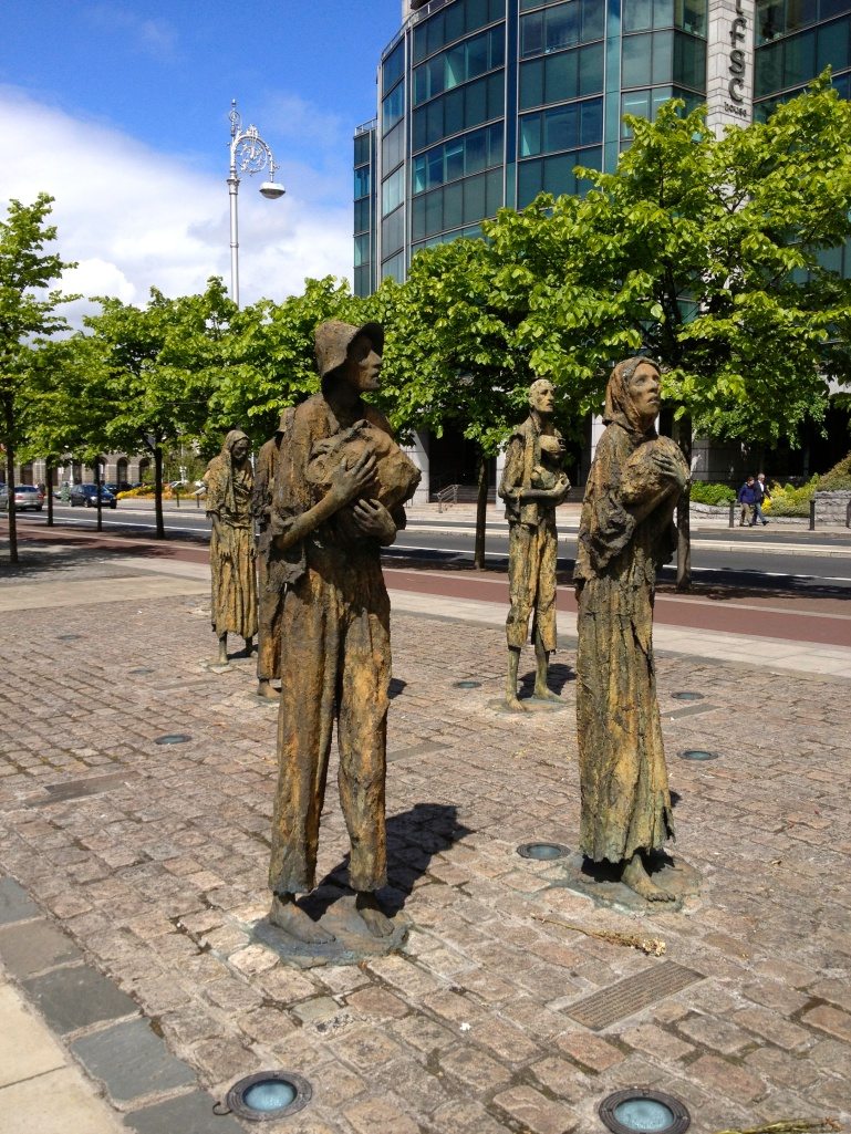 The memorial to the victims of the Irish Famine - quite unsettling actually.