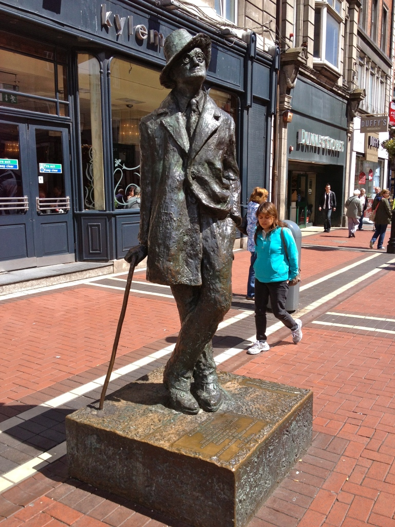 Another famous Dubliner - James Joyce, a favorite local author!