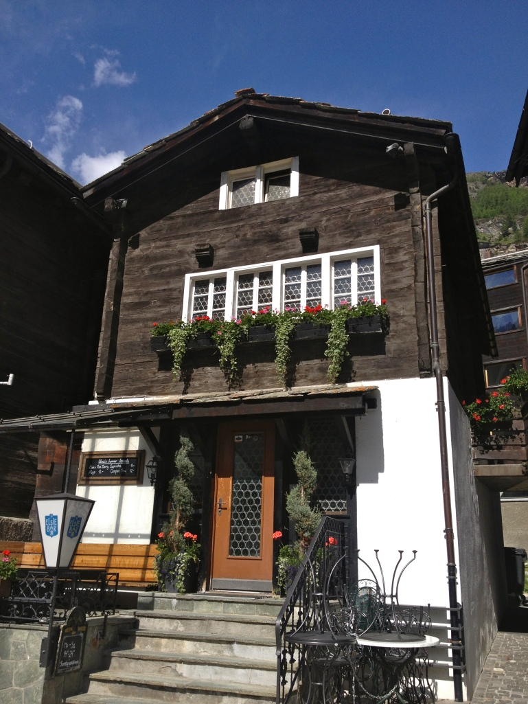 Zermatt is a quaint village with the wooden homes right out of a story book!