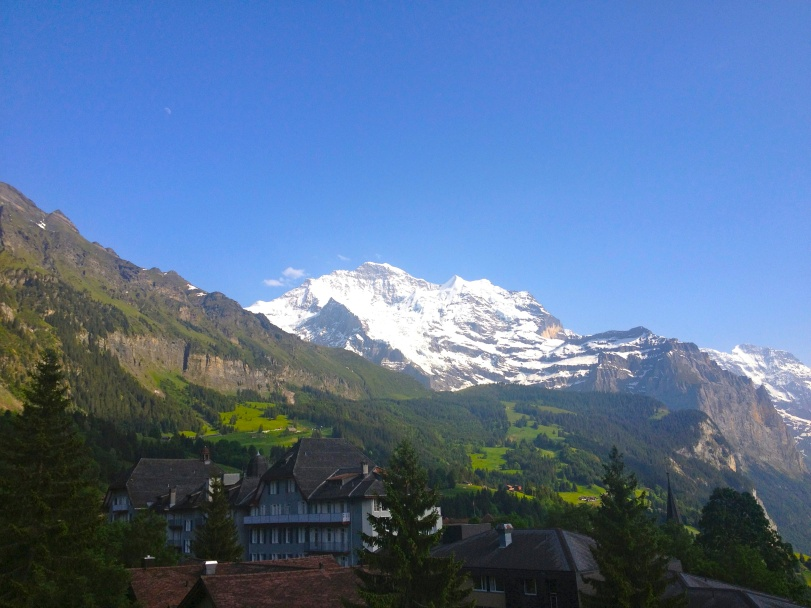The view of the Jungfrau from the hotel!