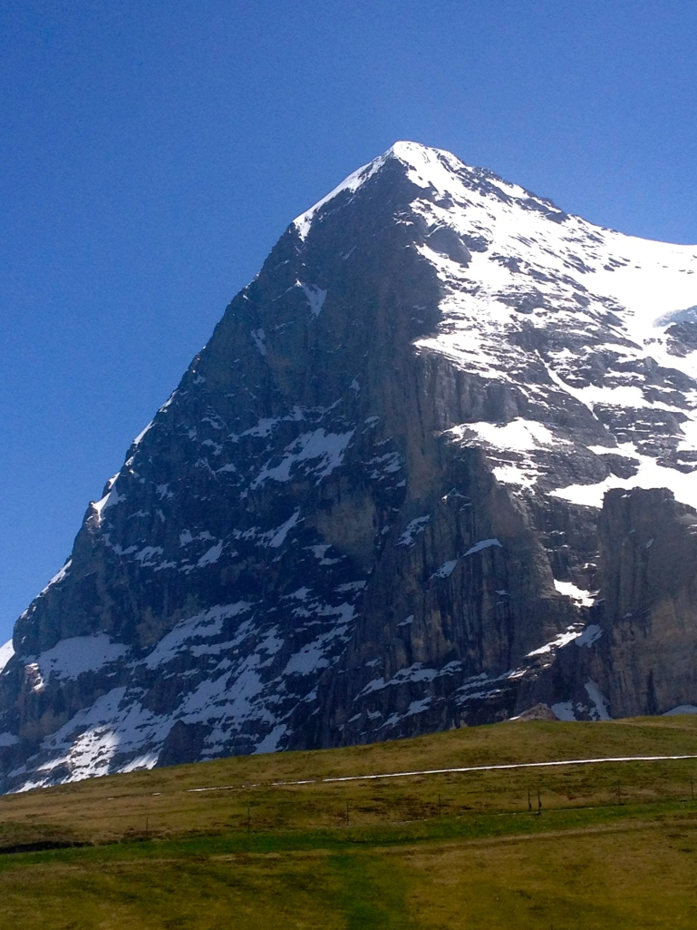 Finally - a great view of the Eiger! If you take the train, this view will be on the way down, on the right side of the train!