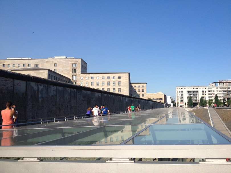 The Topography of Terror museum and one of the few sections of the Berlin Wall still standing. From this side, you are on the American territory looking to East Berlin.