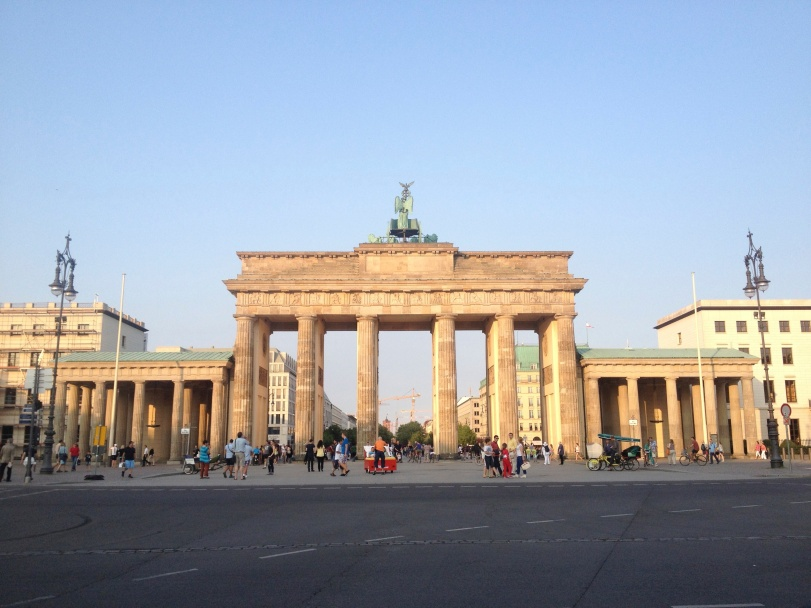 The view of the gate from West Berlin