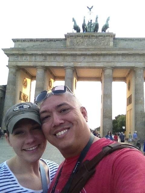 On the East Berlin side