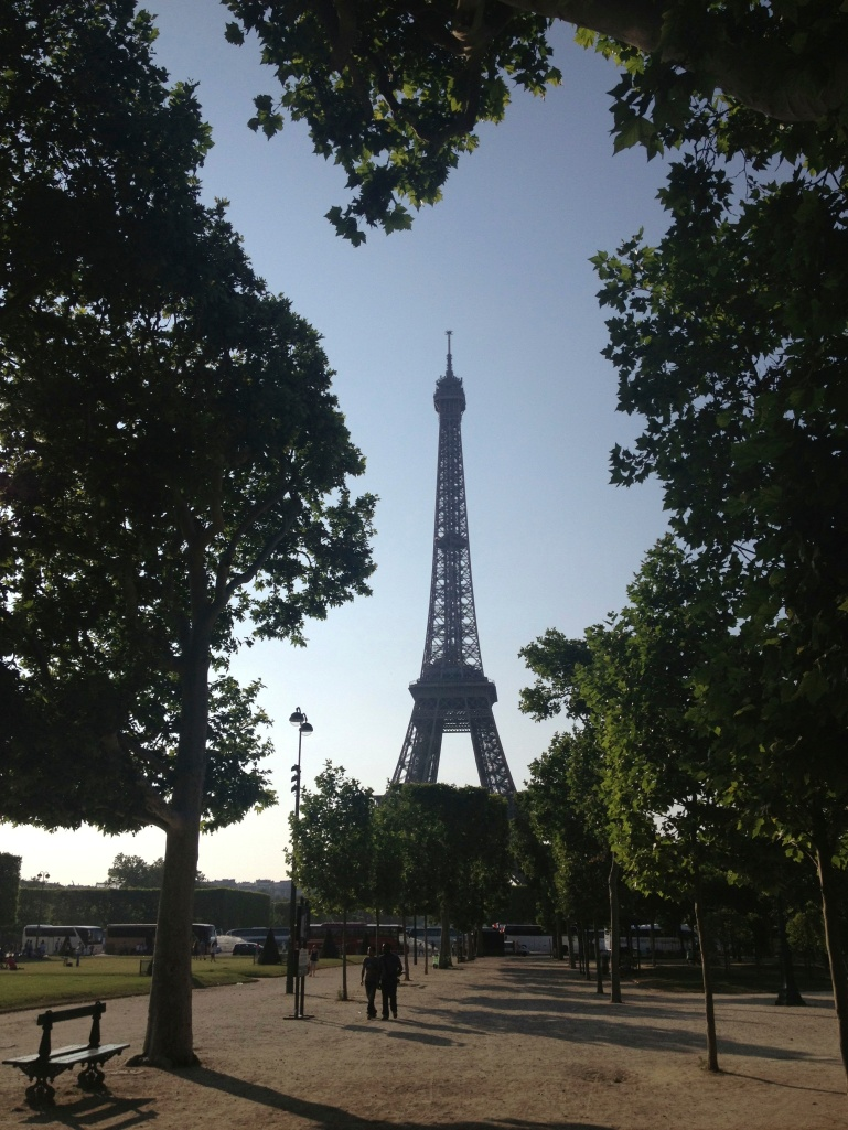 Our first clear view of the Eiffel Tower!