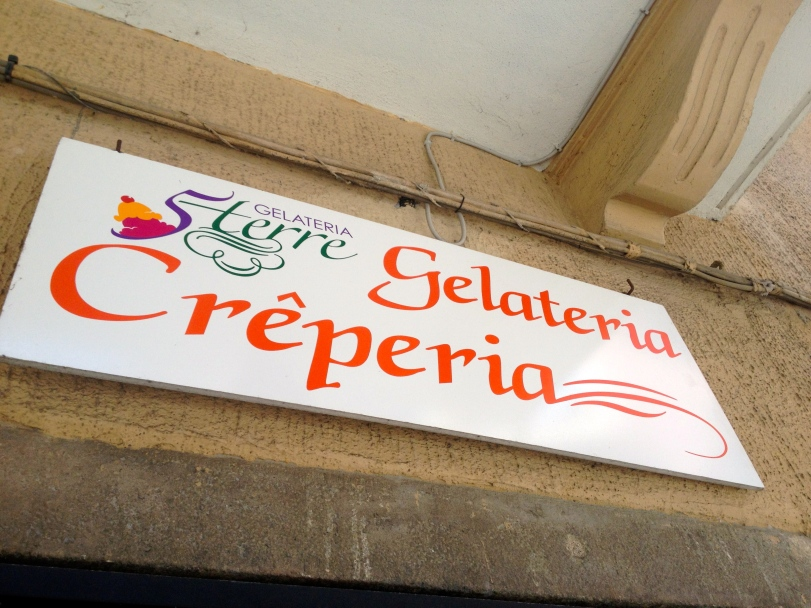 We visited this Gelateria in Manarola twice. It was the perfect treat after swimming!
