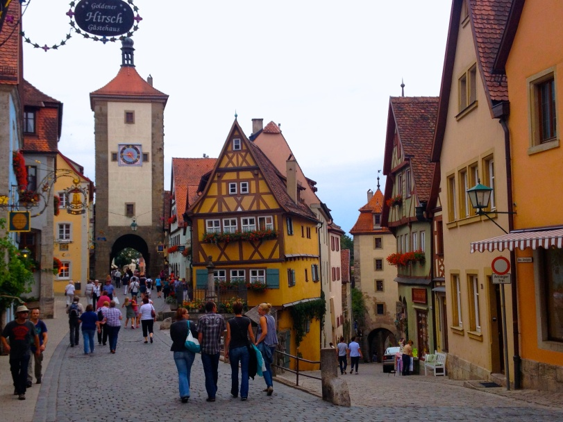 The famous corner in Rothenberg!