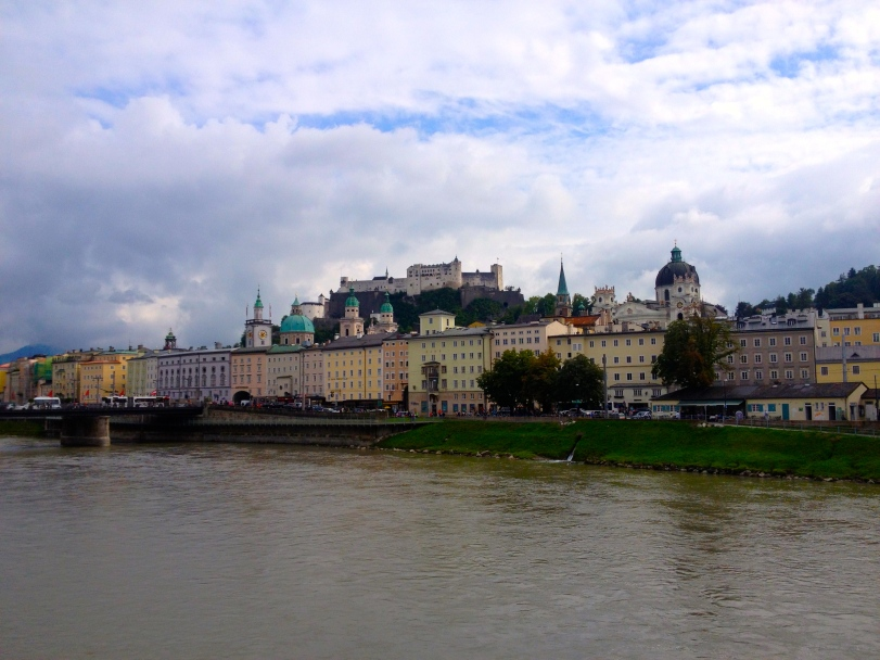Great riverfront with the fortress looking over the town.