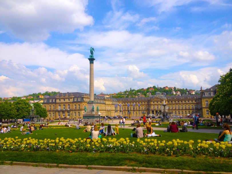 The Schlossplatz - a good place to people watch!