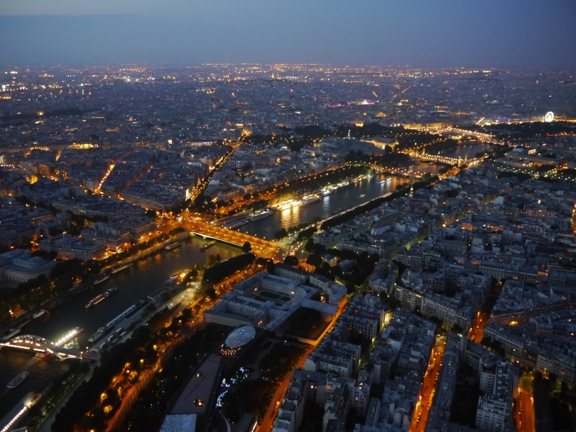 The view from the Eiffel Tower…if you are going to go, visit at night. It is an awesome view!
