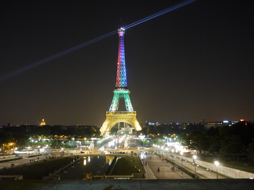 The Eiffel Tower. The French may have originally thought it to be an eyesore, but I could have stared at it all night!