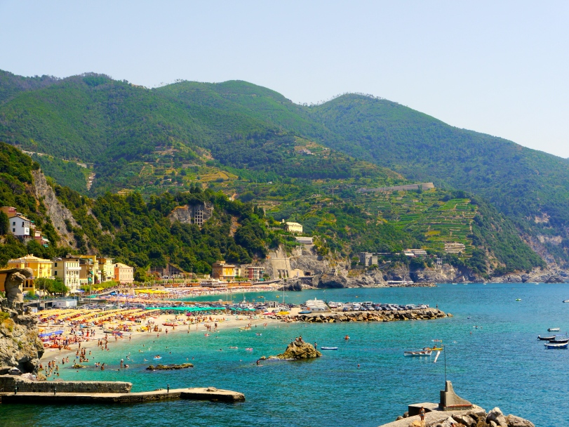 A view of Monterosso from one of the trails.