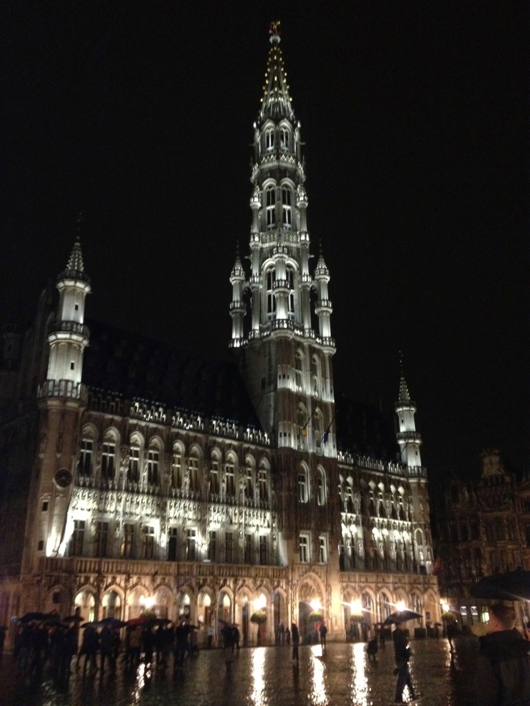 The Grand Place at night - so beautiful!