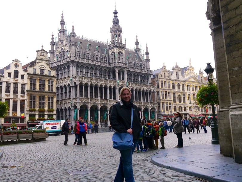 In front of the Grand Place…a UNESCO site in the middle of Brussels.