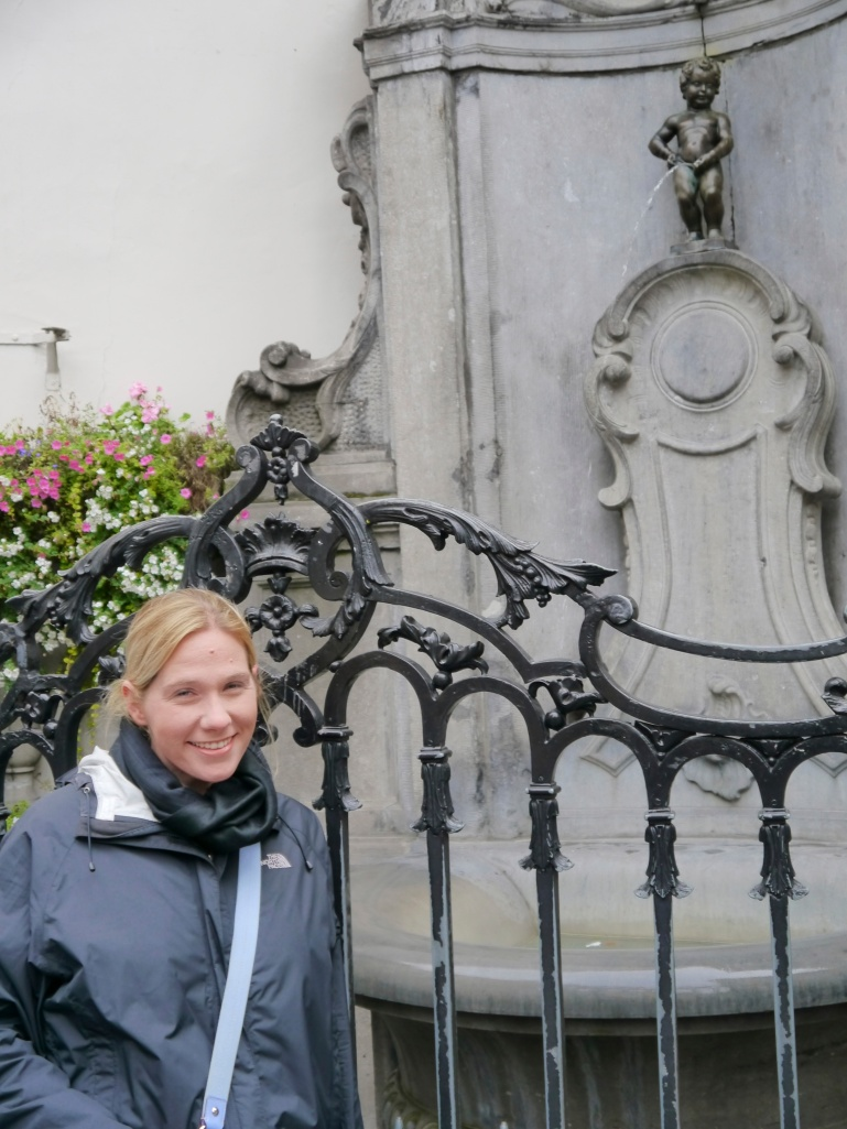 In front of Mannekin Pis