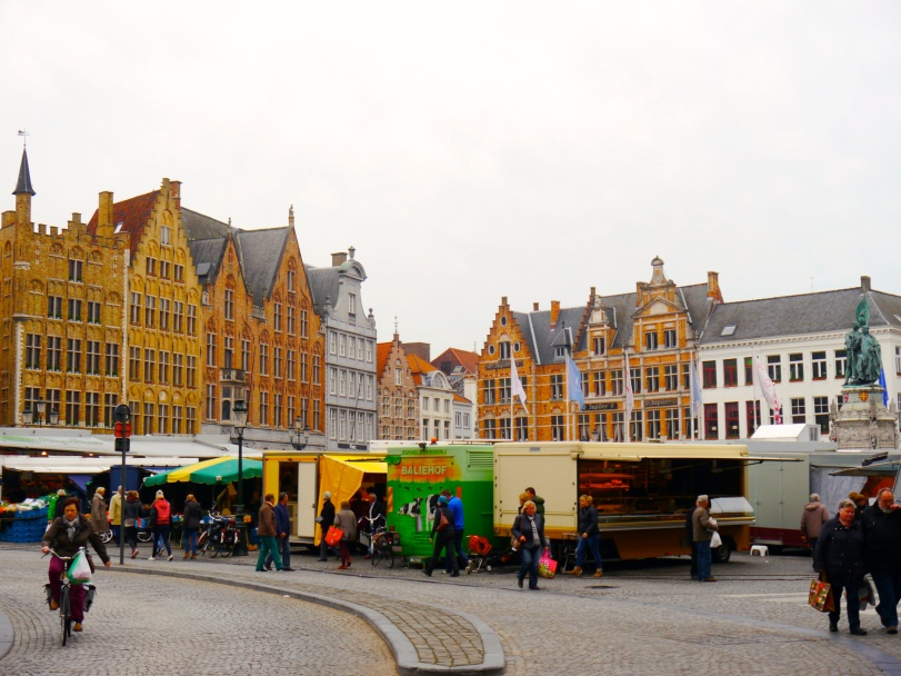 We were there for a market, which made a great place to buy more Belgian cheese and chocolate!