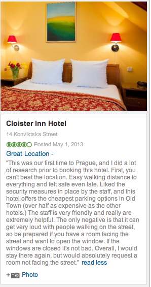 My review from Prague - it was definitely worth noting that requesting a quiet room was key!