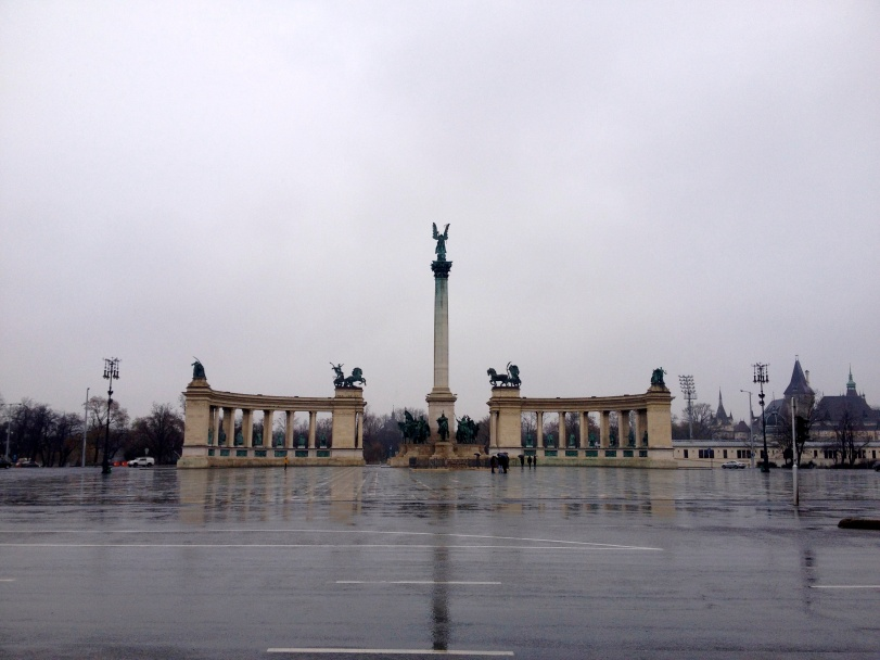 Heroes Square - quite impressive, even on a rainy day!