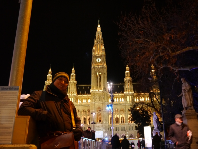 John in front of the incredible Rathaus, or City Hall!