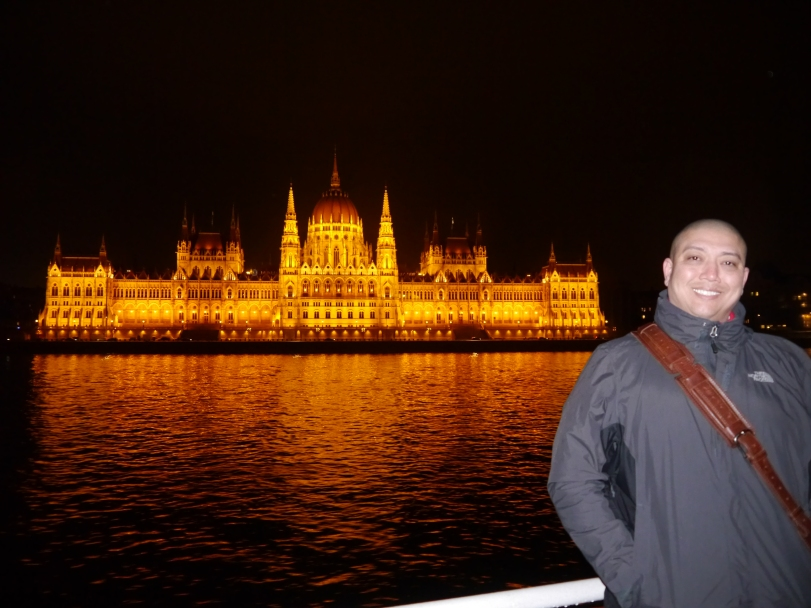 John in front of my favorite building in Europe! There is honestly nothing like it!
