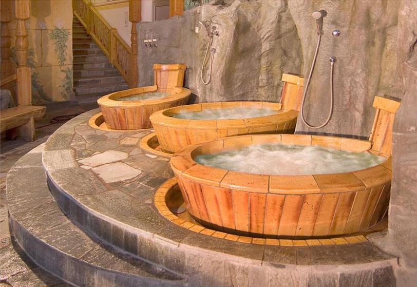 You could opt for your own tub if you aren't feeling the giant hot tub!