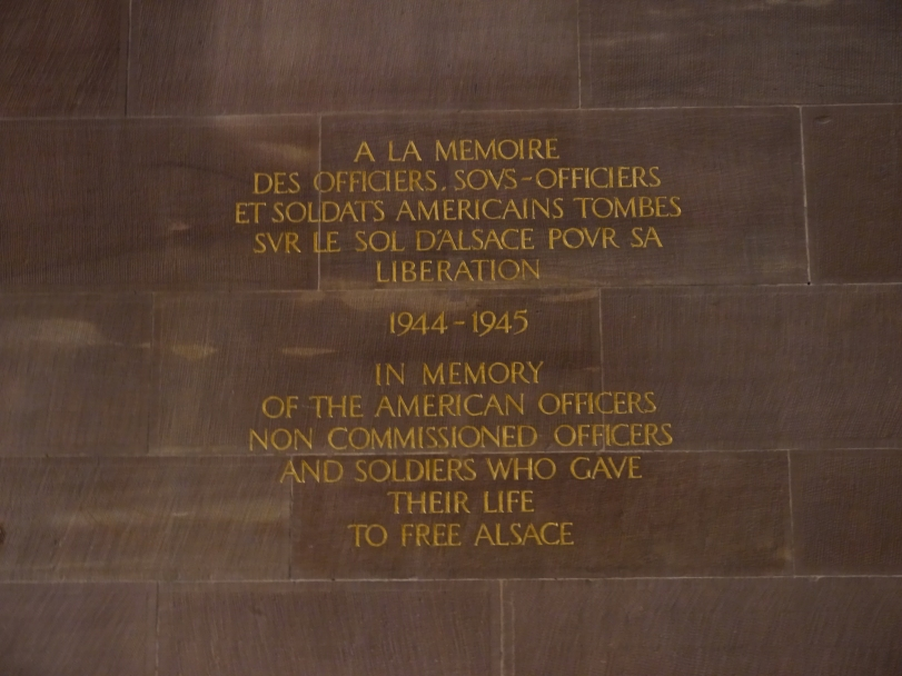 The Memorial to American troops in the church