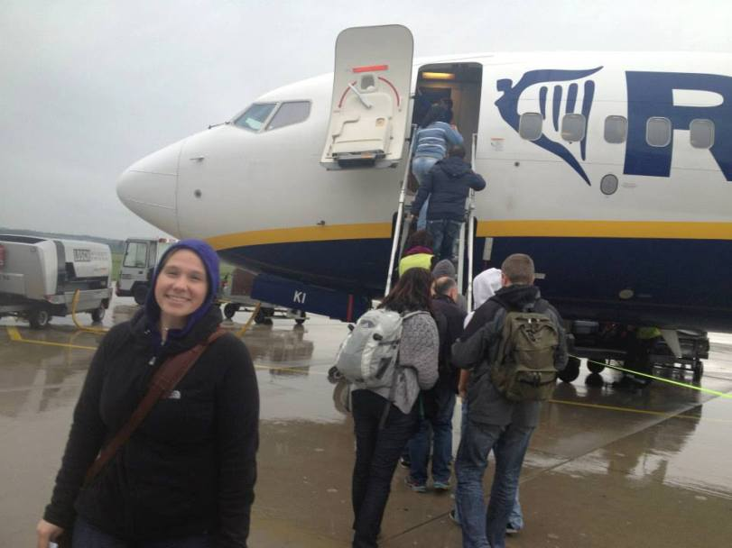 RyanAir is interesting in that you usually have to walk out to the plane or take a bus to it.
