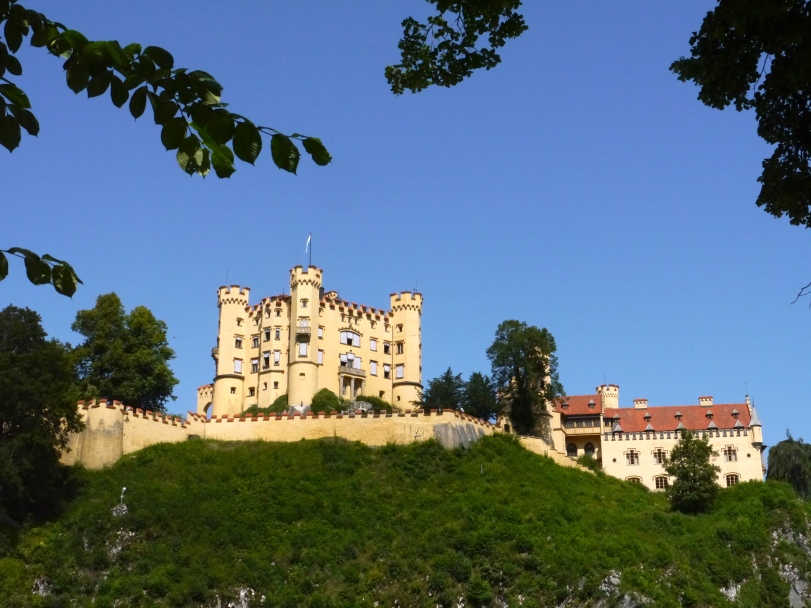 Hohenschwangau, the childhood home of Ludwig.