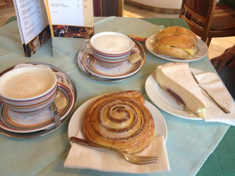 Breakfast at a German bakery...so good!