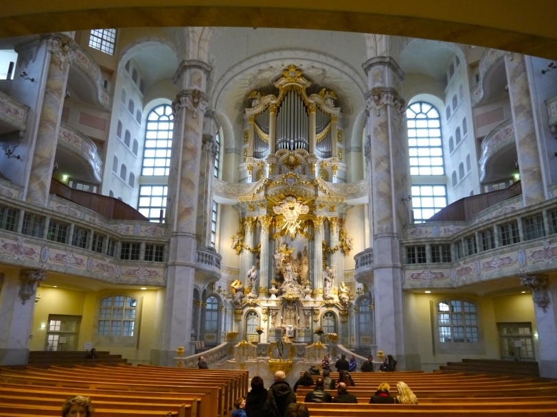 The inside of the Frauenkirche is beautiful!
