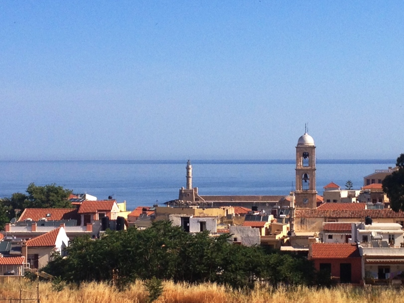 Our first view of Chania from our balcony!